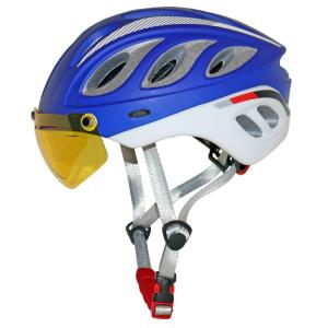 China Deluxe Hot UV Proof Cross Cycling Helmet With PC Visor, Night Vision Goggle on sale