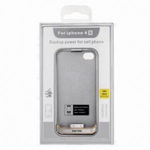 China Black / White External Iphone4 / Iphone 4S Battery Backup Power Case with 1600MAH / 3.7V on sale
