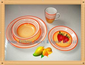 China hot new products China 16 pcs handpainted  ceramic dinnerware sets on sale