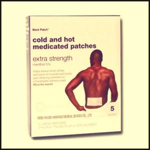 China cold and hot pain relief patch on sale