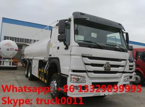 China Sinotruck Howo 6x4 oill truck 20,000 litres to 25,000 litres oil tanker truck ,Best price new diesel tanker truck on sale