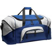 600D Polyester Personalized Sports Duffle Bags Blue Color H32.4cm X W69.2cm X D34.3cm