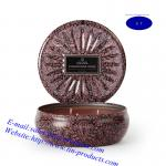 Candle Box/ Candle Tin Box/ Candle Holder/Tin Candle Holder from Goldentinbox.com