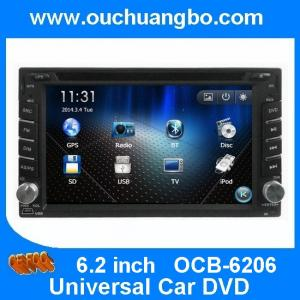 China Ouchuangbo 2 Din GPS navi Universal Car DVD Player with Radio Bluetooth iPod Zimbabwe map on sale