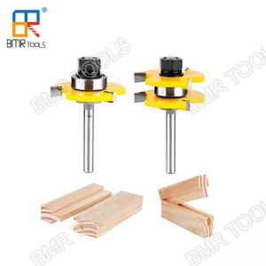 China BMR TOOLS 1/4 Inch Shank Carbide Tipped Tongue and Groove Assembly Bits for Woodworking on sale
