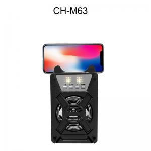China Bluetooth speaker CH-M63 audio bluetooth speaker with microphone for wireless portable active on sale