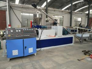 China Single Screw Pvc Plastic Granules Making Machine With One Year Warranty on sale