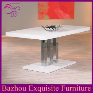 China high quality high gloss wood dining table on sale