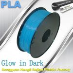 High strength 1.75mm 3mm PLA  Filament Glow In The Dark Filament For 3D Printer