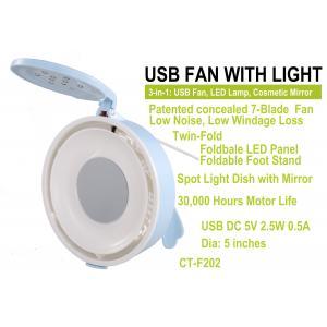 China Fan et lampe d'USB avec le miroir cosmétique CT-F202 on sale