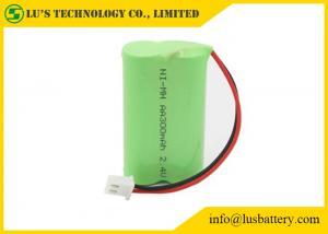 China Batería del níquel e hidruro metálico de NIMH AA300mah 2.4V con talla 2,4V del mah AA de las baterías 300 de los alambres/del conector recargable on sale