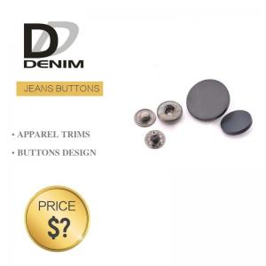 China Size 24L 15mm Black Spray Paint Bulk Jeans Button Jacket Chic Snap Design Various Diameters Line on sale