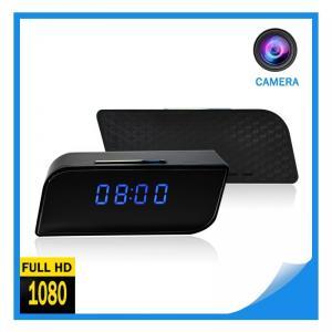 China Cellphone APP Remote Control Full hd Video Recording and Pics Taking Mini Hidden Spy camera Digital Alarm Wifi Clock on sale