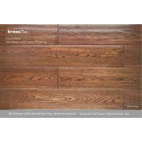 Natural Vertical Glossy Multilayer Flooring , Grade A solid wood floor