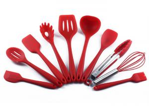 China Food grade , Protect the pan , Heat resistance , Silicone Kitchen Utensils Set , 10pcs on sale