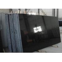 China Absolute Black Granite Shanxi Black Granite pure black granite slabs for wall flooring tiles on sale