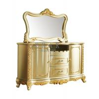 China Wooden Gold Luxury Antique Sideboard Cabinet With Drawer LF-578 on sale
