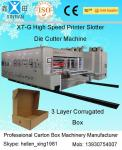 Automatic Corrugated Carton Making Machine Slotter Die Cutter Lead Edge Feeding