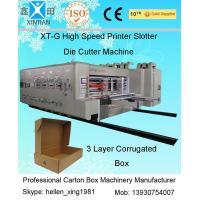 Automatic Corrugated Carton Making Machine Slotter Die Cutter Lead Edge Feeding