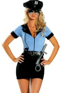 China Women'S Erotic Halloween Adult Costumes Sexy Cop Cosplay  P.D. Blue Superwoman on sale