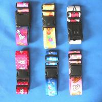 China Elastic baggage strap with buckle with plastic buckle on sale