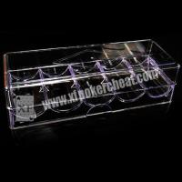 China 8 - 40cm Distance Poker Scanner Plastic Chip Box / Poker Chip Tray on sale