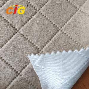 China Emboss Suede Velvet Sponge Fabric for Car Seat Cover 150CM Width on sale