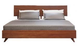 China Lit régulier de cadre en bois solide de taille de la Reine avec les ensembles élégants de meubles de chambre à coucher de dossier on sale