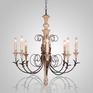 China French wood chandelier Industrial style for home decoration (WH-CI-22) on sale