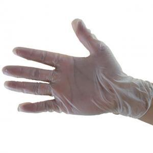 China White Plastic Vinyl Gloves , Latex Free Vinyl Gloves Anti Oil For Food Service on sale