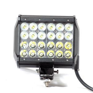 China 1 Pair 5400LM 72W 7'' Four Row Spot Flood Combo Off Road LED Light Bar Driving DRL SUV 4WD on sale