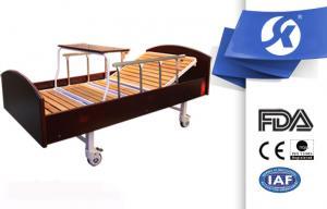 China Turning Table Wooden Batten Manual Hospital Bed , Medical Adjustable Beds on sale