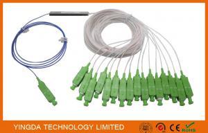 China GPON EPON Splitter 1*16 Mini Module Coupler 0.9mm SM SC/APC connectors 16 Channel on sale