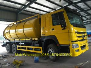China 18CBM 336hp Vacuum Suction Sewer Cleaning Truck 6x4 Desiel Fuel Type on sale