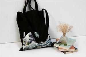 China 100% Canvas Reusable Black Tote Bags - 12oz. Thick Material Canvas Shopping Bags on sale