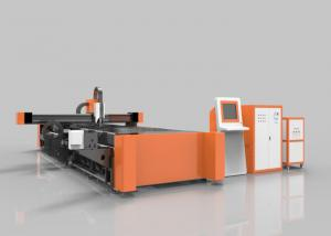 China Tube / Pipe Fiber Laser Cutting Equipment Both For Metal Plate And Metal Pipe on sale