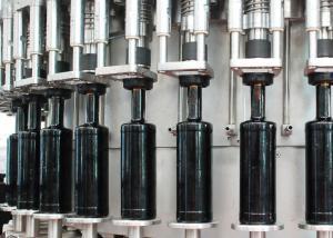 China Stainless Steel Glass Liquid Bottle Filling Machine Monobloc For Sauce, Vinegar on sale