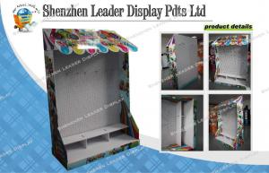 China Custom Hooks Option Cardboard Pallet Display With MDF Back For Candy Promotion on sale
