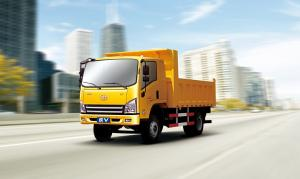 China Euro 3 JIEFANG Faw Tiger V 4x2 Diesel Light Dump Truck 4 / 5 Tons on sale