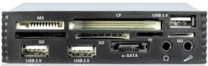 """Quality 3.5"""" USB2.0i Internal Multi Card Reader Front Panel of Floppy Drive (MH-MFP for sale"""