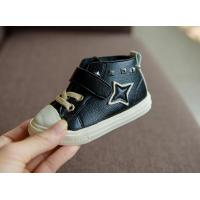 baby walking shoes with lace velcro fastening fashion rivet design 0-3 year baby shoe