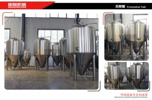 Quality Glycol Jacketed Beer Fermentation Tanks 500l Capacity Food Grade Ss Material for sale