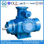 China Huanggong Machinery Group Marine Twin Screw Pump 2HM7000-128 right inlet top outlet fuel crude oil transfer