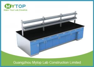 China Science Research Modern Laboratory Furniture Lab Island Bench With Full Cabinet on sale