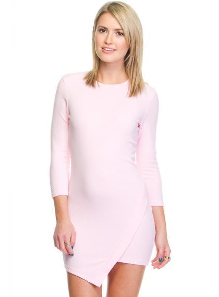 Mature Pink Long Sleeve Short Junior Formal Dresses For Girls