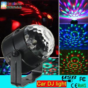 China 5v 1A 3w car dj light mini rgb led disco dj flash light for the car led magic ball light on sale
