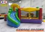 China Safety Inflatable Bouncer , Custom Design Inflatable Jumping Bed With Slide CE wholesale