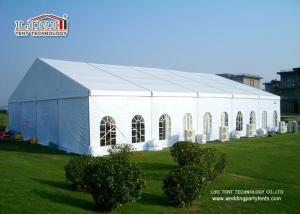 China Instant Movable Aluminum Frame PVC Fabric Waterproof Party Tents , Clear Span Tent on sale