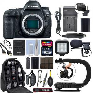 China Canon EOS 5D Mark IV 30.4MP Full Frame 4K DSLR Camera Body + 64GB Pro Video Kit on sale