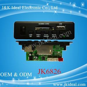 China JK6826 5V 12V usb sd mp3 player fm radio kit circuit board with bluetooth on sale
